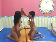 Brazilian girls practice facesitting fun tubes