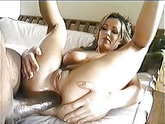 Dude has a monster black dick for her ass tubes