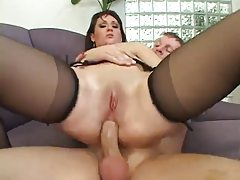 Small tits and big ass on yummy anal slut tubes