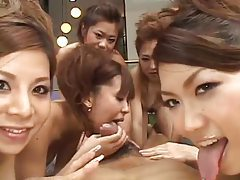 Tons of Japanese girls ride your dick tubes