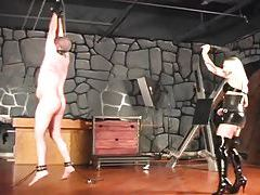 Mistress mercilessly whips her man (for real) tubes