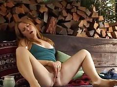 Girl in the shed masturbates her clit tubes