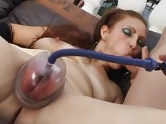 Pussy pump play makes cunt puffy tubes