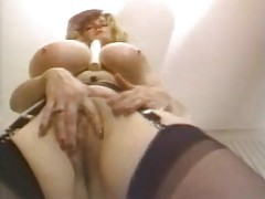Giant tits on the solo stockings chick tubes