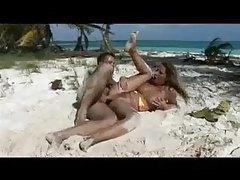 Muscular guy ass fucks bitch on the beach tubes