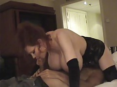 Massive tits on redhead milf that fucks tube
