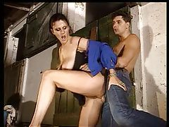 Horse stables sex with hot babe and stud tubes