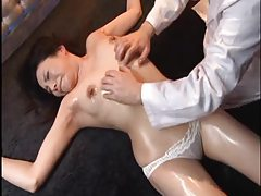 Tied Japanese girl in panties is groped tubes