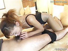 leotard uniform blowjob cumshot tubes