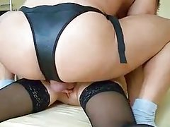 He double penetrates her with strapon and his cock tubes