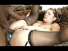 Milf wears glasses and loves black cock tubes
