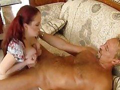 Naturally curvy redhead with a lust for dick tubes