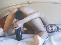 Big toys and a hot gaping pussy tubes