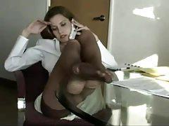 Amazing Jamie Lynn in pantyhose tease tubes