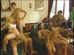 Orgy includes lots of double penetration sex tubes