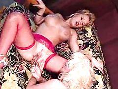 Bimbos in classic porn have lez sex tubes