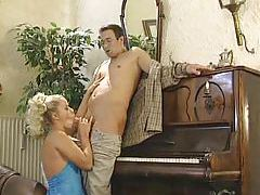 Nerdy guy fucks hot blonde in all holes tubes