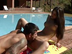 Outdoor screwing with a Brazilian chick tubes