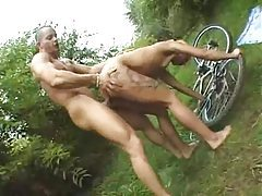 Tattooed whore fucked in the grass tubes