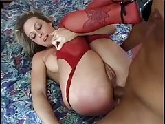 Lusty lingerie blonde is in love with anal tubes