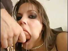 Bobbi Starr deepthroat BJ and a facial tubes