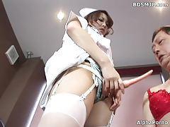 femdom nurse anal strapon in hospital tubes