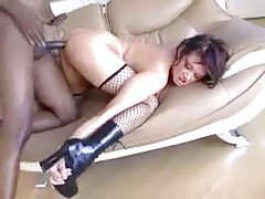 Tory Lane in fishnets goes black tubes