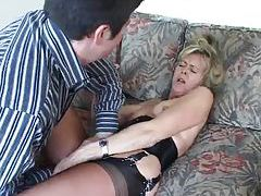 Mature in a hot corset foreplay with her man tubes