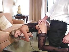 Hotel room hardcore with hottie in lingerie tubes