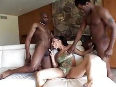 Curvy temptress banged by black cocks tubes