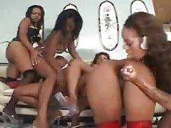 Black lesbian orgy is huge tubes