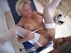 Doctor fucks his hot blonde patient hard tubes