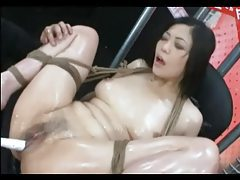 Tied Asian Extreme Toys tubes