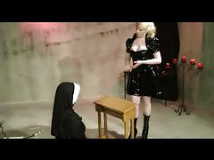 Lesbian Nun Dominated And Spanked tubes