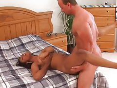 Curvy black girl in his bed is a fuck slut tubes
