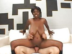 Fucking a black slut with big boobs tube