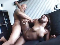 Big black dick fucks fishnet slut tubes