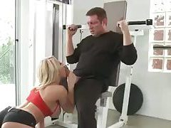 Blonde in gym fucked by a buddy tubes