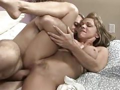 Old guy bangs milf in their bed tubes