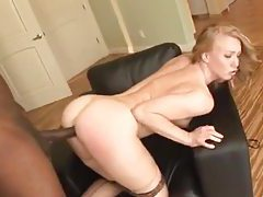 Seamed stockings gal fucked by a BBC tubes