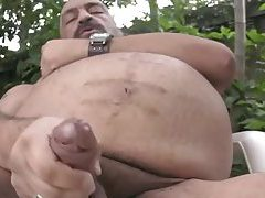 Joe Jerks His Fat Tool Outside tubes