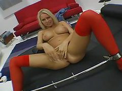 You put cock inside blonde in POV tubes