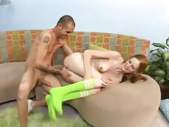 Pigtails on a skinny teen turn him on tubes