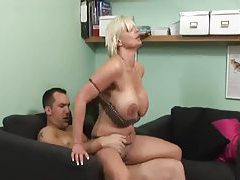 Milf in a cardigan fucked until a creampie tubes