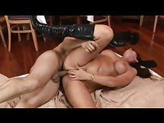 Mature in leather boots is hot as he fucks her tubes