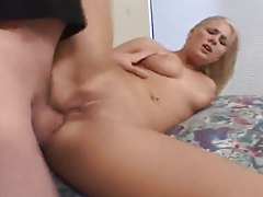 A thick old man cock in her tight asshole tubes