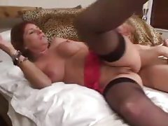 Busty mom is a redhead in need of cock tube