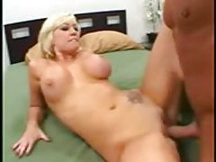 Cute shaved blonde nailed after BJ tubes