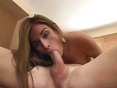 Hot cock gobbler on her knees sucking tubes