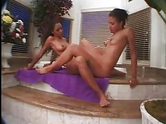 Strapon action with the black hotties is fun tubes